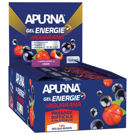 Présentoir Gel Energie Passage difficile Guarana Cassis