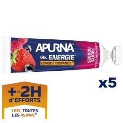 Gel Energie Longue distance Fruits Rouges x5