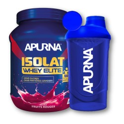 Isolat Whey Élite Fruits rouges + Shaker